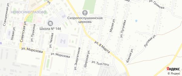 Сад СНТ Авиатор-2 улица 8 на карте Челябинска с номерами домов