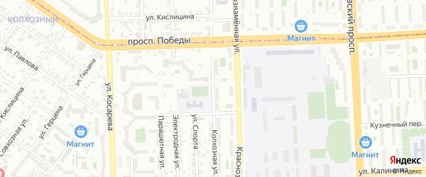 Улица Колхозная (Колхозный) на карте Челябинска с номерами домов