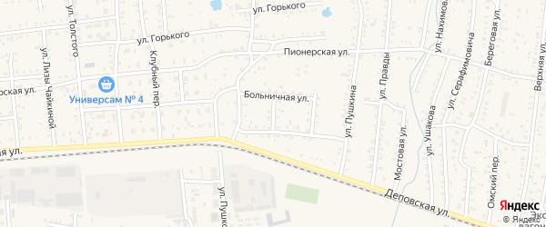 Переулок Бурденко на карте Коркино с номерами домов