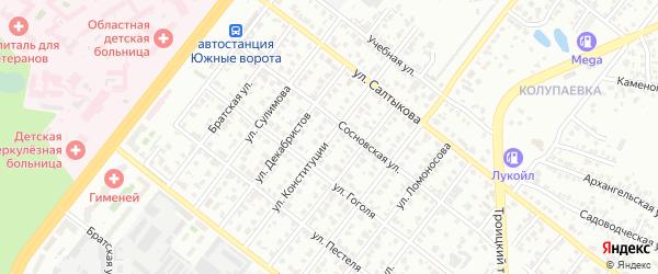 Улица Конституции на карте Челябинска с номерами домов