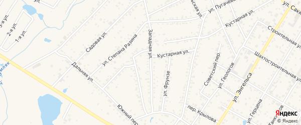 Западная улица на карте поселка Сары с номерами домов