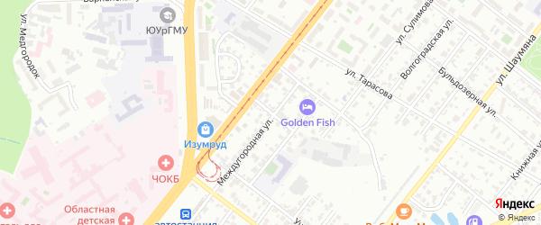 Азовская улица на карте Челябинска с номерами домов