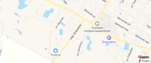 Переулок Блюхера на карте Коркино с номерами домов
