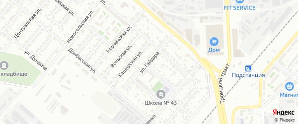 Улица Гайдара на карте Челябинска с номерами домов