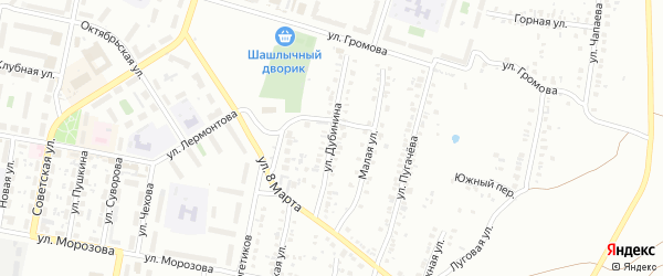 Улица Дубинина на карте Челябинска с номерами домов