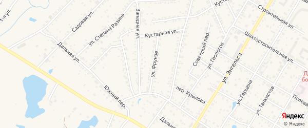 Улица Фрунзе на карте Коркино с номерами домов