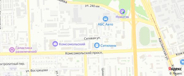 Сетевая улица на карте Челябинска с номерами домов