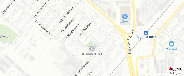Мебельный 1-й переулок на карте Челябинска с номерами домов
