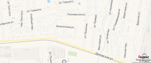 Переулок Грибоедова на карте Коркино с номерами домов