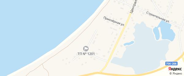 Береговая улица на карте поселка Саккулово с номерами домов