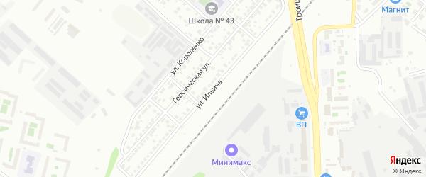 Улица Ильича на карте Челябинска с номерами домов