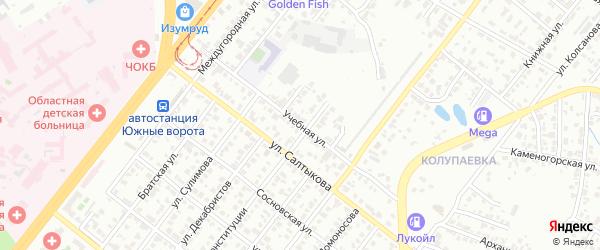 Учебная улица на карте Челябинска с номерами домов
