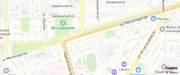 Территория ГСК 504 филиал по Шоссе Металлургов 35 на карте Челябинска с номерами домов