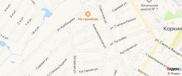 Улица Степана Разина на карте Коркино с номерами домов