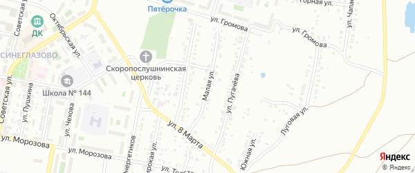 Малая улица на карте Челябинска с номерами домов