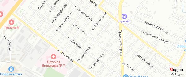 Улица Гоголя на карте Копейска с номерами домов