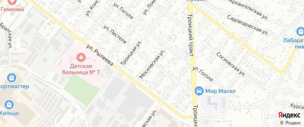 Московская улица на карте Копейска с номерами домов