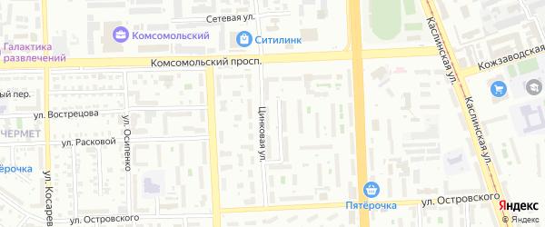 Улица Пилотов на карте Копейска с номерами домов