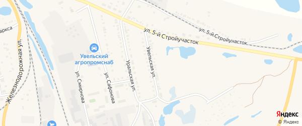 Увельская улица на карте Увельского поселка с номерами домов