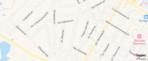 Комсомольская улица на карте Коркино с номерами домов