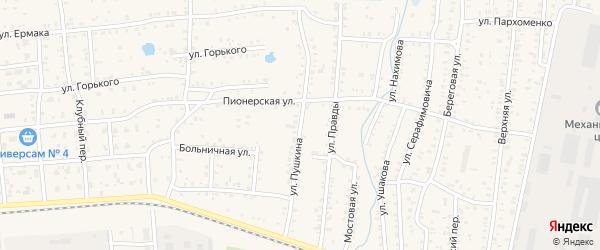 Улица Пушкина на карте Коркино с номерами домов