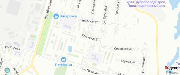 Улица Ключевая (Шершни) на карте Челябинска с номерами домов