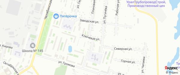 Улица Ключевая (Новосинеглазово) на карте Челябинска с номерами домов