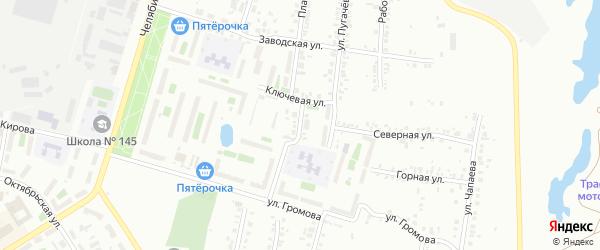 Односторонняя улица на карте Челябинска с номерами домов