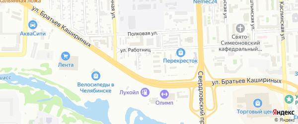 Улица Тупик на карте Челябинска с номерами домов