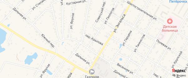 Переулок Крылова на карте Коркино с номерами домов