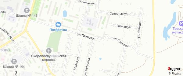 Улица Громова на карте Челябинска с номерами домов