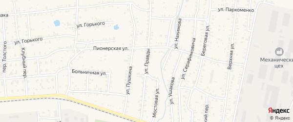 Улица Правды на карте Коркино с номерами домов
