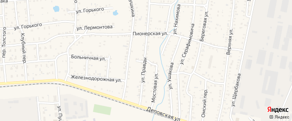 Мостовой переулок на карте Коркино с номерами домов