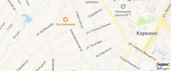 Советская улица на карте Коркино с номерами домов