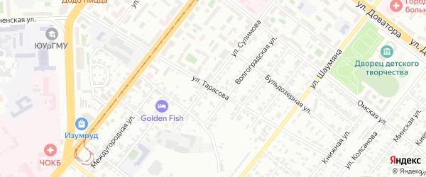 Улица Тарасова на карте Челябинска с номерами домов