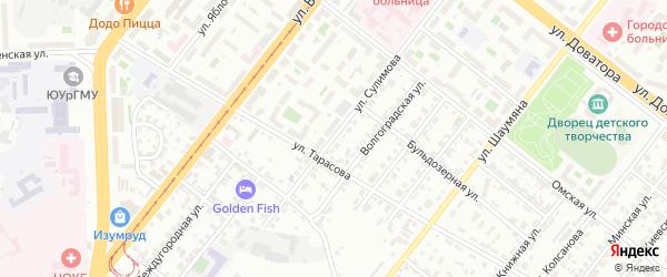 Улица Сулимова на карте Челябинска с номерами домов