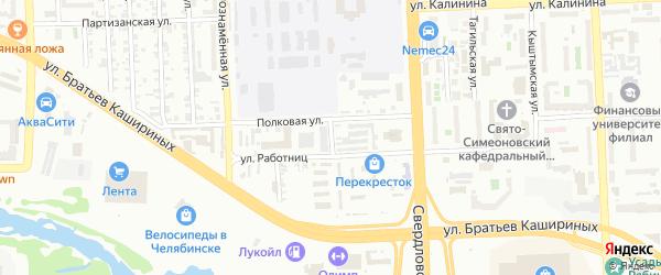 Белозерская улица на карте Челябинска с номерами домов