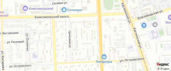 Улица Титанстрой на карте Челябинска с номерами домов