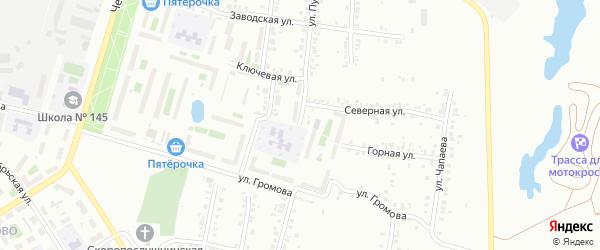 Улица Пугачева (Новосинеглазово) на карте Челябинска с номерами домов
