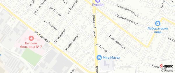 Клиническая улица на карте Челябинска с номерами домов