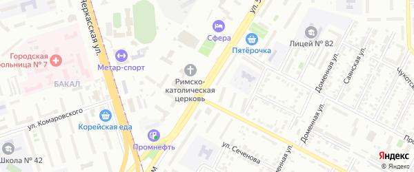 Улица 50-летия ВЛКСМ на карте Челябинска с номерами домов