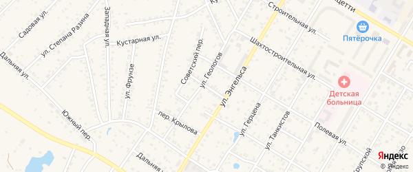Медицинский переулок на карте Коркино с номерами домов