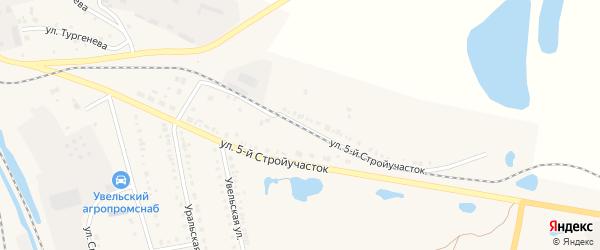 Улица 5 Стройучасток на карте Увельского поселка с номерами домов