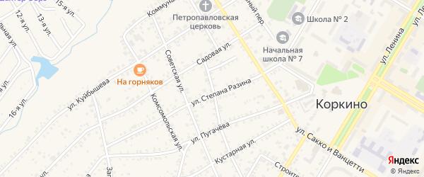 Улица Д.Бедного на карте Коркино с номерами домов