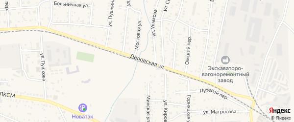 Деповская улица на карте Коркино с номерами домов