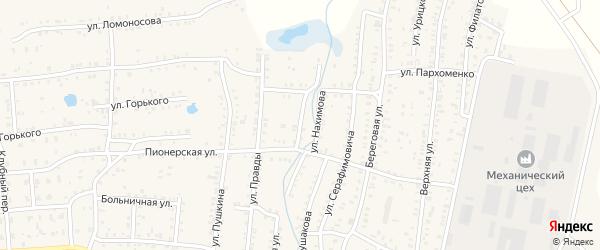 Безымянный переулок на карте Коркино с номерами домов