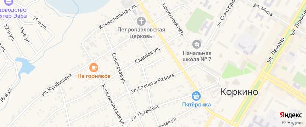Улица Вахрушева на карте Коркино с номерами домов