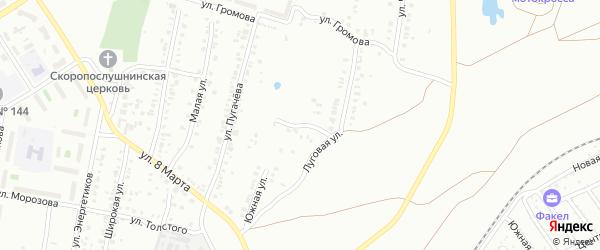 Южный переулок на карте Челябинска с номерами домов