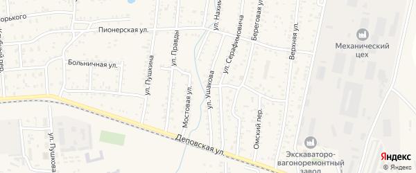 Улица Ушакова на карте Коркино с номерами домов