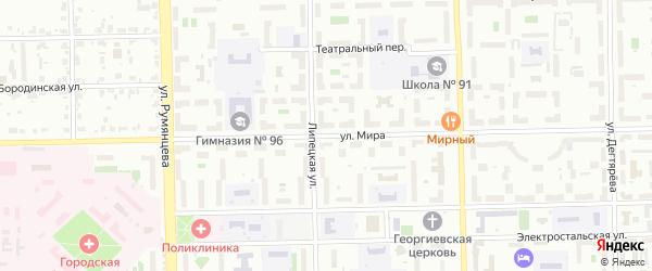 Сад СНТ Уралец Мира ул на карте Челябинска с номерами домов